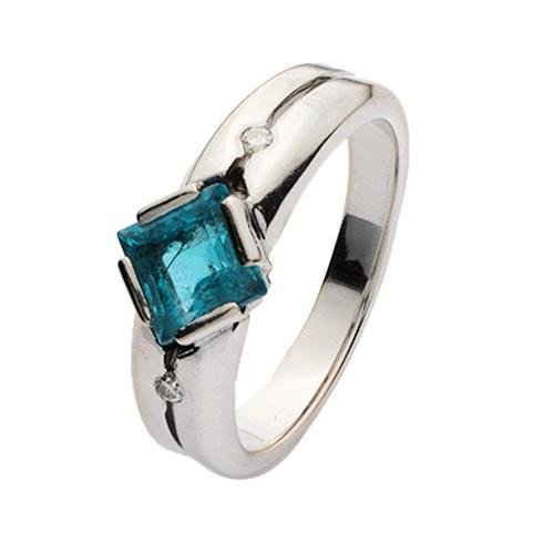 Кольцо иззолота свставкой из камня ибриллиантом (57 гр.)