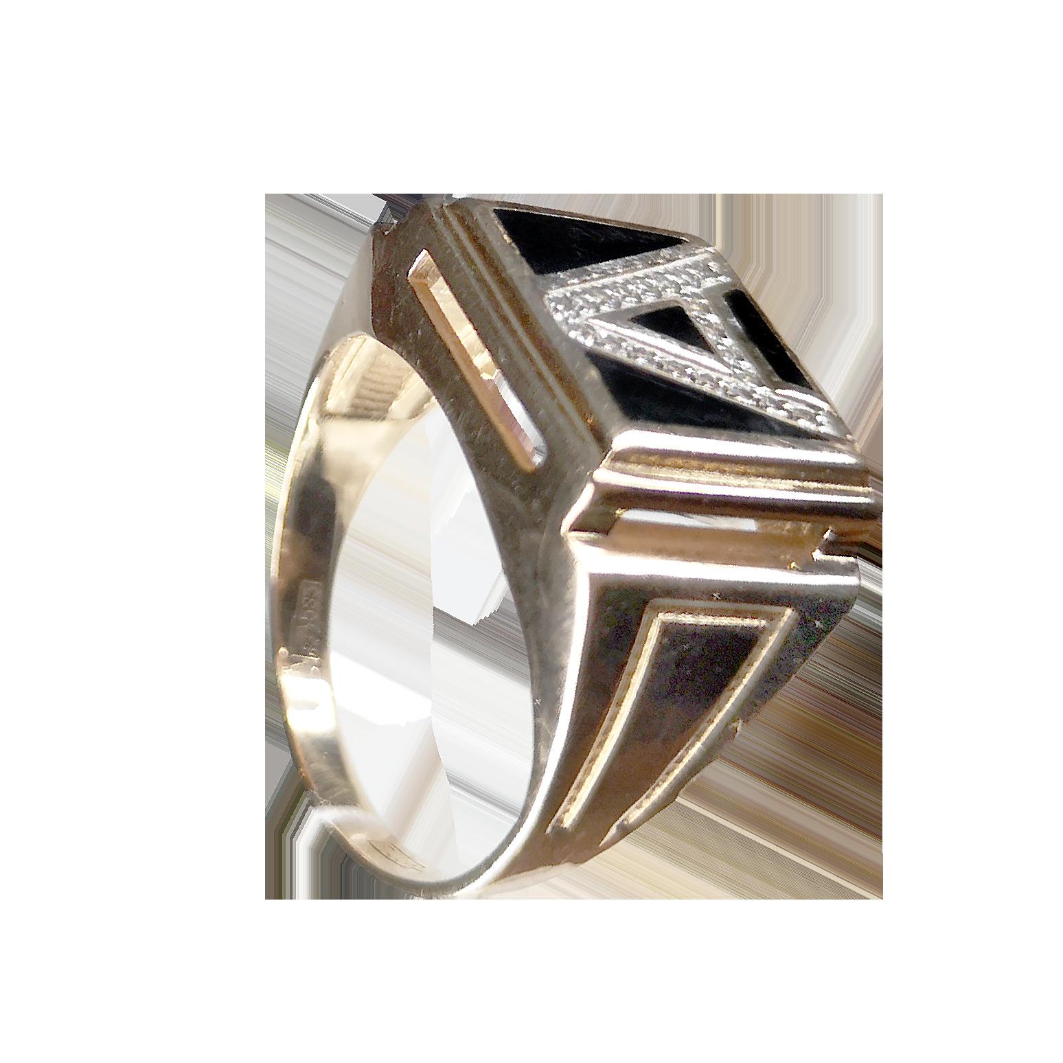 Кольцо иззолота свставкой из камня